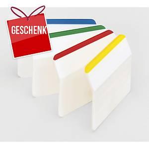 3M Post-it® 686 Page-Marker steif, Breite 50mm, Pack. 4 Farben zu je 6 Zettel