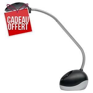 Lampe Alba Ledx - LED - bras flexible - noir/gris