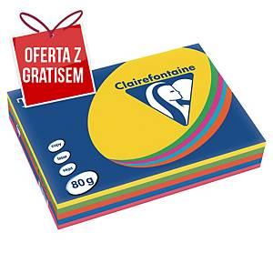 Papier kolorowy TROPHÉE A4 80 g/m2, mix kolorów intensywnych, 500 arkuszy