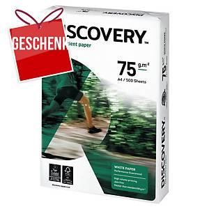 Umweltfreundliches Papier, Discovery, A4, 75 g/m², weiß, 5 x 500 Blatt