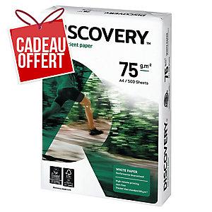 Ramette 500 feuilles papier Discovery 75g A4 blanc fsc