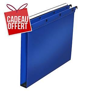 Dossier suspendu pour tiroir Elba Ultimate - PP - dos 30 mm - bleu - par 10