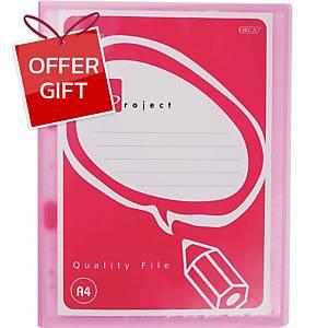 ORCA PFA-110 Display File Refillable A4 10 Pockets Pink