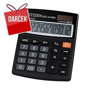 Stolová kalkulačka Citizen SDC812NR, 12-miestny displej, čierna