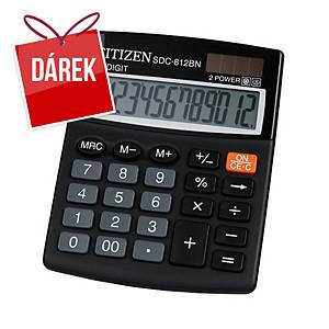 Stolní kalkulačka Citizen SDC812NR, 12-místný displej, černá