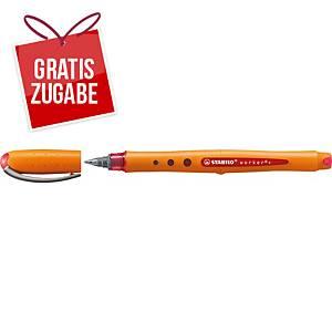 Tintenroller STABILO worker+ medium, Strichstärke: 0,5mm, rot