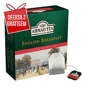 Herbata czarna AHMAD English Breakfast, 100 torebek
