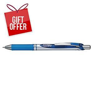 Pentel Energel Bl77 Retractable Gel Pen 0.7mm Blu