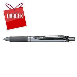 Gélové pero Pentel Energel BL77, klikacie, 0,7 mm, čierne