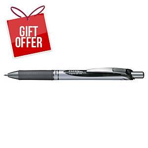 Pentel Energel BL77 Retractable Gel Pen 0.7mm Black - Box of 12