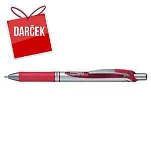 Gélové pero Pentel Energel BL77, klikacie, 0,7 mm, červené