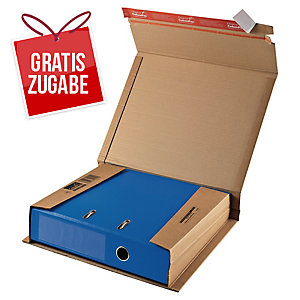Ordner-Versandbox Colompac CP5001, Maße: 320 x 290 x 35-80mm, braun
