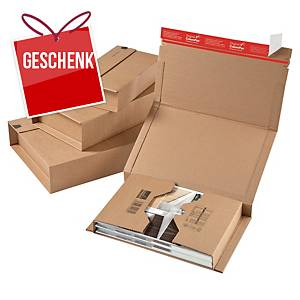 ColomPac® Versandbox, 147 x 126 x 55 mm, braun