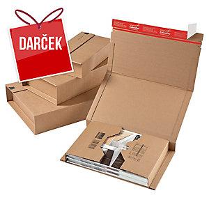 Poštová krabica ColomPac®, 147 x 126 x max. 55 mm, hnedá