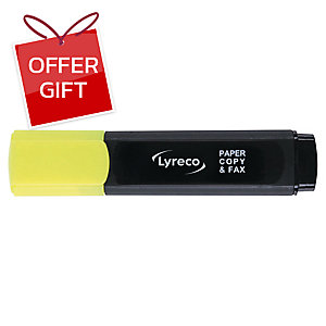 LYRECO HIGHLIGHTER - YELLOW