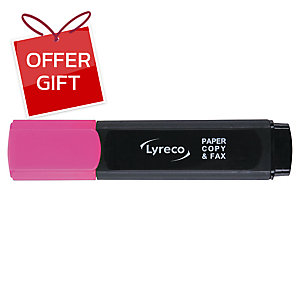 LYRECO HIGHLIGHTER - PINK