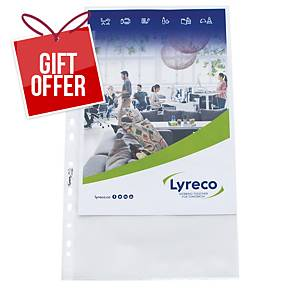 Lyreco A4 Multi-Punched Plastic Pockets 80 Microns - Pack Of 100