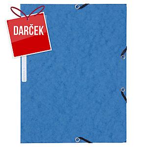 Odkladacia mapa s 3 chlopňami + gumička Lyreco A4 modrá, balenie 10 kusov