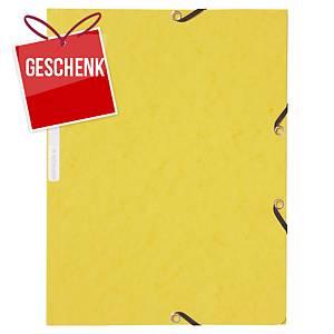 Gummizugmappe Lyreco A4, Karton 390 g/m2, gelb, Packung à 10 Stück