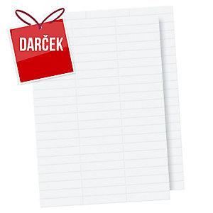 Papierové náhradné štítky na obaly, balenie 100 kusov