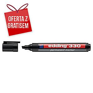 Marker permanentny EDDING 330, końcówka ścięta, czarny