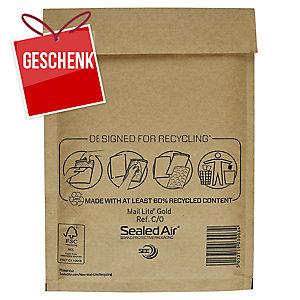 Luftpolster-Versandtaschen Sealed Air Mail Lite C/0,150x210mm,braun,Pk. à 100Stk