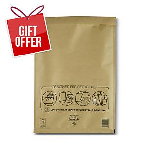 Mail Lite Bubble Lined Gold Postal Bags J6 300X440mm Box of 50