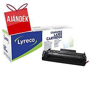 Lyreco kompatibilis HP Q2612A jumbo toner lézernyomtatókhoz, fekete