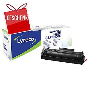 Toner Lyreco Jumbo kompatibel mit HP Q2612A, Reichweite: 3.000 Seiten, schwarz