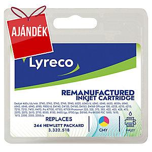 Lyreco kompatibilis HP C9363EE / HP 344 patron tintasugaras nyomtatókhoz, színes