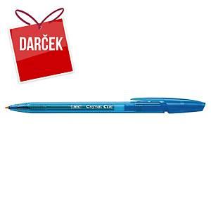 Guľôčkové pero Bic Cristal Clic, klikacie, modré