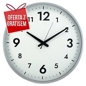 Zegar ścienny ALBA Horissimo M, srebrny