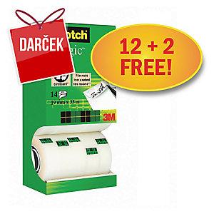 Neviditeľné lepiace pásky Scotch Magic 810 - zvýhodnené balenie 14 kusov