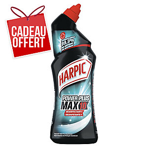 Gel super désinfectant WC Harpic Power Plus Max 10 - flacon de 750 ml