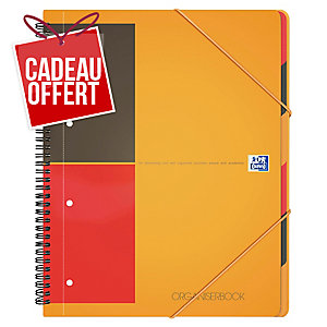 Cahier spirale Oxford Organiserbook A4+ - 160 pages - ligné