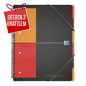 Kołonotatnik Oxford International Organiserbook, A4+, kratka, 80 kartek