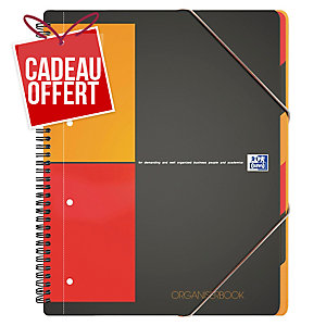 Cahier spirale Oxford Organiserbook A4+ - 160 pages - quadrillé