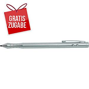 Laserpointer Wedo 2363004, mit PDA-Stift und Lampe, 4 in 1, 50m, silber