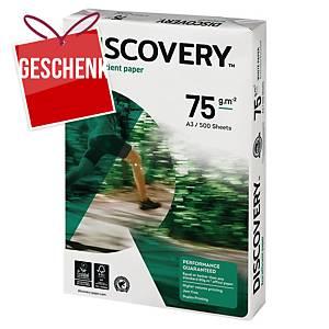 Discovery umweltfreundliches Papier, A3, 75 g/m², weiß, 500 Blatt/Pack