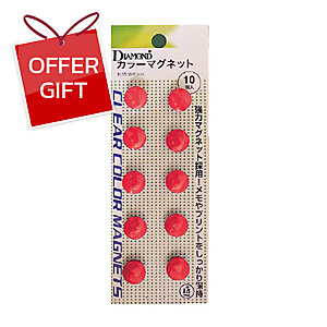 DM-15 MAGNETIC BEANS ROUND 15MM RED - PACK OF 10