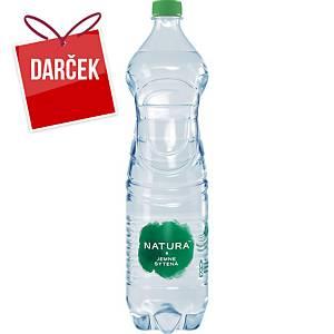 Pramenitá voda Bonaqua, jemne perlivá, 1,5 l, balenie 6 kusov