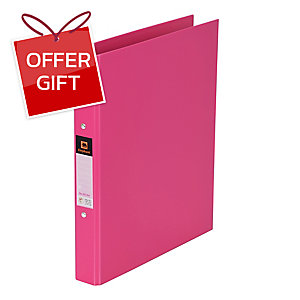 ELEPHANT 221 2-O-RING BINDER FOLDER A4 1   PINK