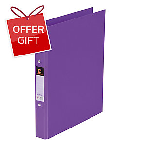 ELEPHANT 221 2-O-RING BINDER FOLDER A4 1   PURPLE