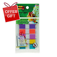 POST-IT 683-5CFB FLAGS 0.5   X 1.7   - 5 COLOURS - 125 FLAGSS