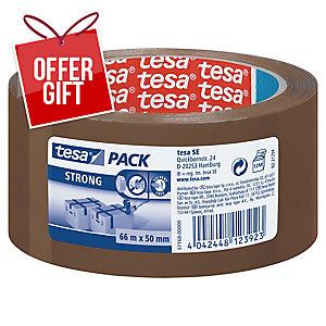 Tesa Brown Packaging Tape 50mm X 66M - 52 Microns - Pack of 6