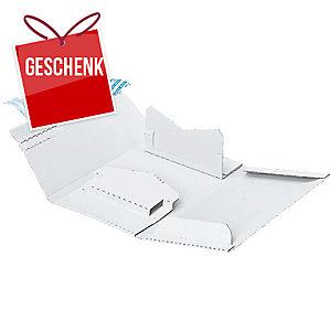 Versandverpackung Brieger 706, C5, für 1 CD/DVD mit Beilage, weiss