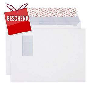 Couvert Elco Premium, C4, Fenster rechts, 120 g/m2, weiss, Pack à 250 Stk.