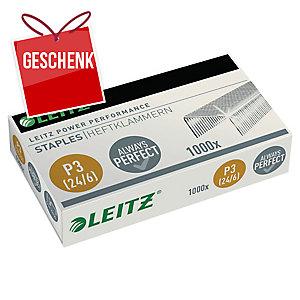 Heftklammern Leitz P3, 24/6, 6 mm, Packung à 1000 Stück