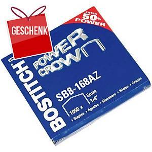 Heftklammern Stanley Bostitch SB8-168AZ, 6 mm, Packung à 1050 Stück