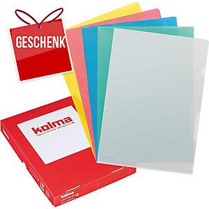 Sichtmappe Kolma Visa Dossier 59434 A4, PP, assortiert, Packung à 100 Stück
